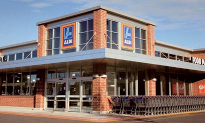 Image of outside an Aldi store