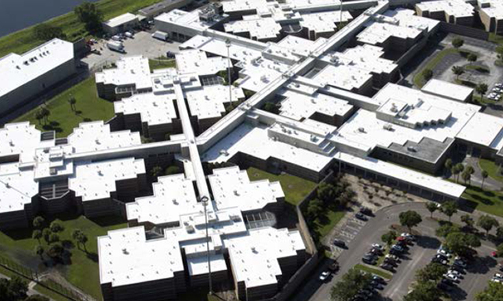 Arial image of jail roof
