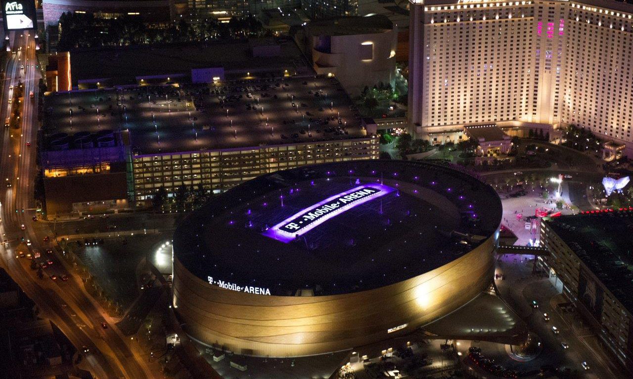 Arial image of TMobile Arena