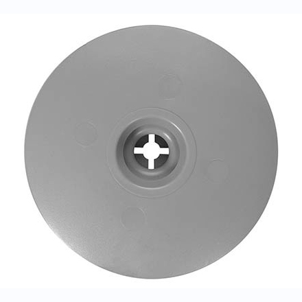 Image of top of plastic plate